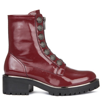 Women's Combat Patent Leather Boots GS 5329039 RDP