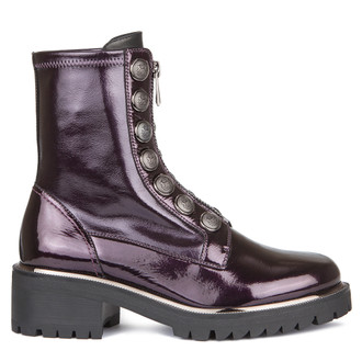 Women's Combat Purple Patent Leather Boots GS 5329039 VLP