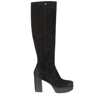 Women's Long Platform Suede Boots GD 5458719 BLV