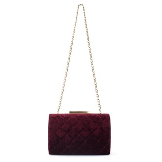 Dark Red Velvet Salerno Clutch XB 5101029 BDF