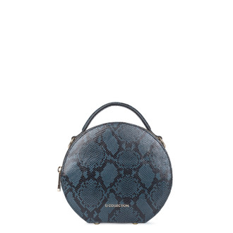 Python Print Leather Bag Positano XN 5160019 BLU