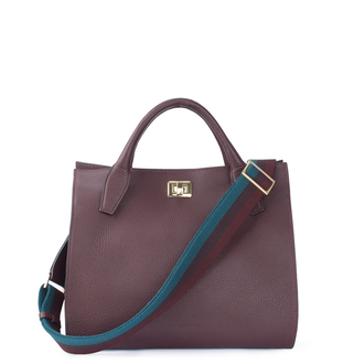 Burgundy Leather Naples Bag YG 5340819 BDA