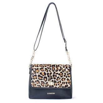 Leopard Print Leather Parma Bag YM 5220619 BLB