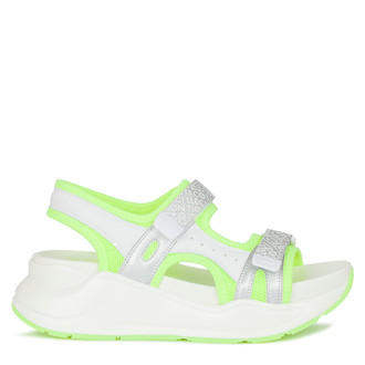 Women's Neon Green Velcro Strap Sandals GF 5120220 WHY