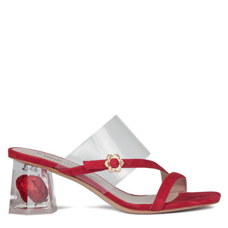 Women's Suede Red Mules GF 5156930 RDS