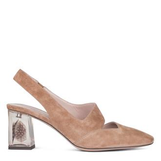 Women's Sand-Coloured Slingbacks with a Transparent Heel GF 5169010 BGS