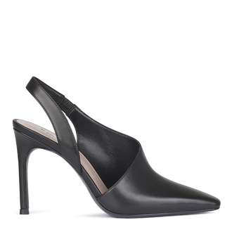 Women's Black Slingback Stiletto Heel Courts GF 5188810 BLK