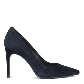 Women's Dark Blue Suede Pumps GF 5288010 NVS