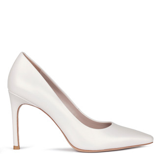 Women's White Leather Pumps GF 5288010 WHZ