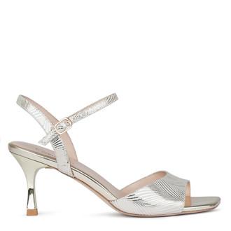 Women's Gold Kitten Heel Sandals GJ 5169610 BGZ
