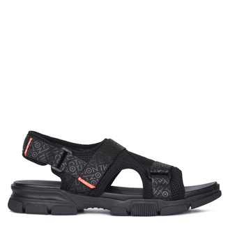 Men's Black Velcro Strap Sandals GK 7114120 BLK