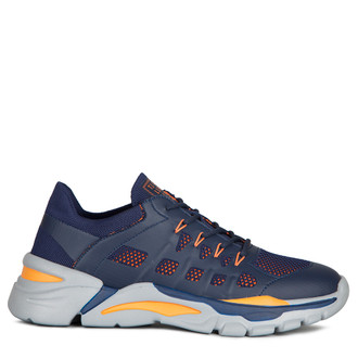 Men's Blue and Orange Lightweight Sneakers GK 7205020 NVO