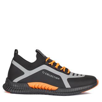 Men's Vibrant Black & Orange Pluto Sneakers GK 7206920 BLO