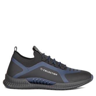 Men's Sleek Black & Blue Pluto Sneakers GK 7206920 BLU