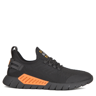 Men's Black and Orange Sport Chic Sneakers GK 7210920 BLO