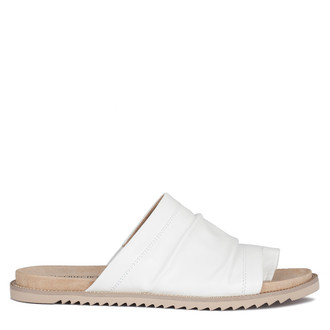 Women's White Glove Leather Footbed Sandals GP 5114210 WHZ