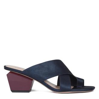Women's Blue and Red Nubuck Sandals GR 5161910 NVZ