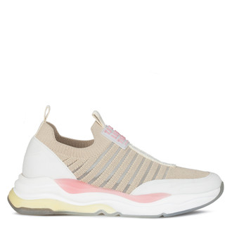 Women's Beige Sporty Rainbow Sneakers GS 5110820 BGZ