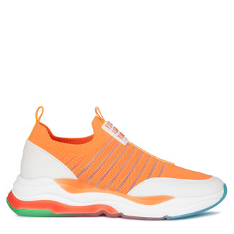 Women's Vibrant Orange Rainbow Sneakers GS 5110820 ORG