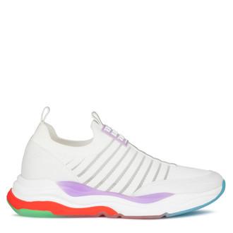 Women's Bright Snow-White Rainbow Sneakers GS 5110820 WHM
