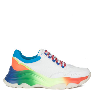 Women's White Chunky Sole Mercury Sneakers GS 5213910 WHM