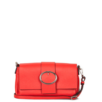 Red Leather Clutch Saint-Tropez YG 5152610 RED