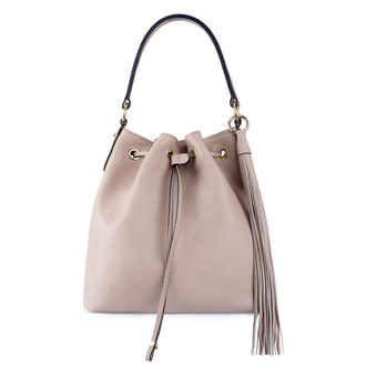 Nude Leather Bucket Bag YG 5319010 PNA