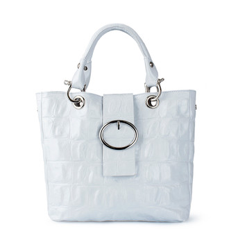 White Leather Valencia Tote YG 5335010 WHC