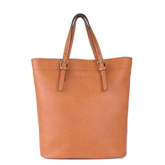 Mandarin Orange Leather Tote Bag YG 5468010 ORB