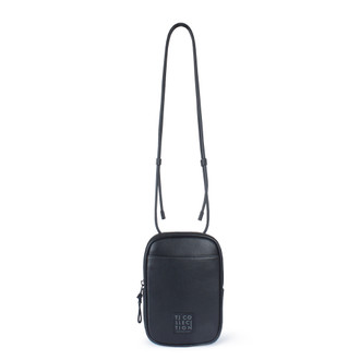 Black Leather Unisex Shoreditch Bag YH 8100710 BLI