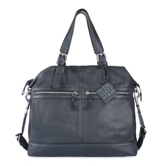 Black Textured Leather Handle Bag Berlin YH 8448810 BLI