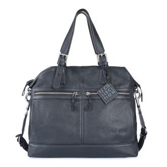 Black Textured Leather Handle Bag Berlin YH 8448810 BLI