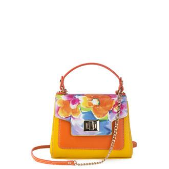 Yellow and Orange Leather Mini Summer Bag YM 5112010 YLM