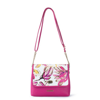 Fuchsia Leather Cross-Body Parma Bag YM 5220810 FXW