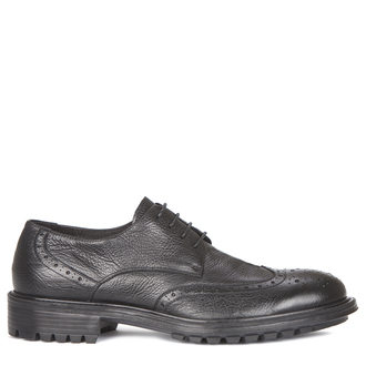 Men's Classic Black Perforated Derbies GB 7218719 BLI