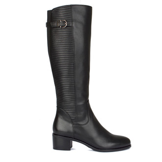 Women's Long Black Winter Boots GD 5649010 BLK