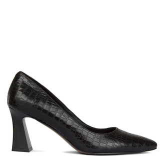 Women's Reptilian Black Pumps  GJ 5270710 BLC