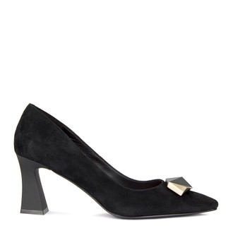 Women's Suede Pumps with a Clasp  GJ 5270910 BLZ