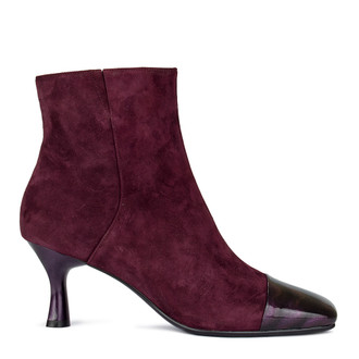 Women's Burgundy Ankle Booties GJ 5362010 BDS