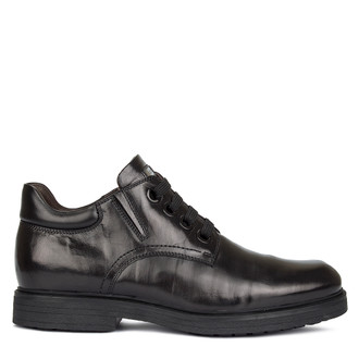 Men's Refined Black Leather Shoes GL 7529710 BLK
