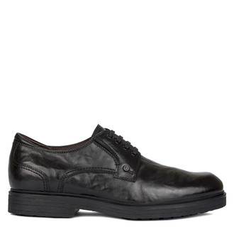 Men's Black Leather Winter Derbies GL 7729210 BLA