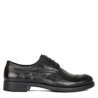 Men's Washed Leather Derbies GN 7224010 BLA