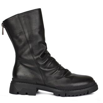 Women's Black Pleated Ankle Boots GP 5322210 BLI