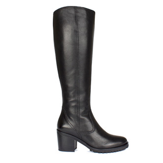 Women's Tall Black Leather Boots GP 5454510 BLK