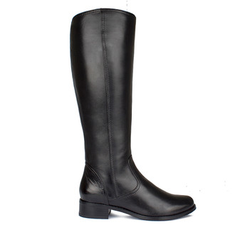Women's Classic Black Leather Boots GP 5489015 BLK