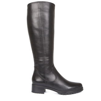 Women's Tall Leather Boots GP 5624918 BLK