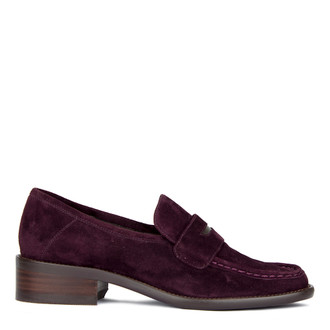 Women's Chic Purple Suede Loafers GR 5232010 VLS