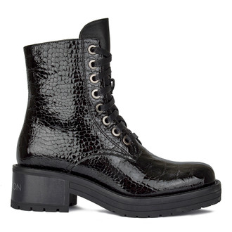 Women's Versatile Patent Leather Boots GS 5328210 BLC