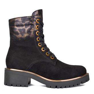Women's Soft Leopard-Print Suede Boots GS 5328810 BLS
