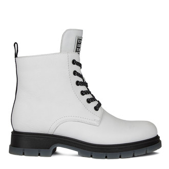 Women's Vivid White Matte Leather Boots MP 5522510 WHB